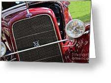 1930 Red Ford Model A-front-8886 Greeting Card