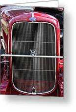 1930 Red Ford Model A-grill-8885 Greeting Card