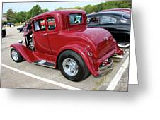 1930 Red Ford Model A-rear-8902 Greeting Card