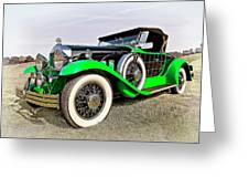 1930 Willys Knight 66b-plaidside Greeting Card