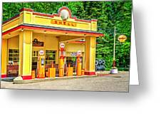 1930s Shell Gas Station Greeting Card