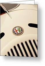 1931 Alfa Romeo 6c 1750 Gran Sport Aprile Spider Corsa Hood Emblem Greeting Card