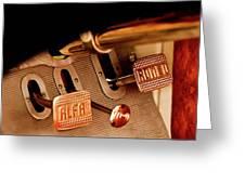 1931 Alfa Romeo 6c 1750 Gran Sport Aprile Spider Corsa Pedals Greeting Card