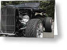 1931 Black Ford Roadster Greeting Card