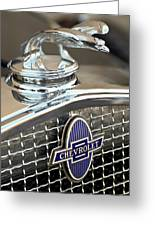 1931 Chevrolet Hood Ornament 2 Greeting Card