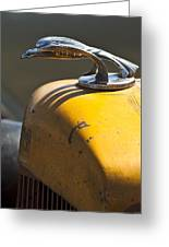 1931 Chevrolet Hood Ornament On A 1951 For Rat Rod Greeting Card