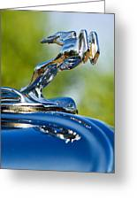 1931 Chrysler Cn Roadster Hood Ornament 2 Greeting Card