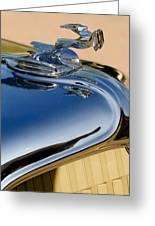 1931 Chrysler Cn Roadster Hood Ornament 3 Greeting Card