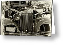 1931 Chrysler Front View Greeting Card