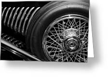 1931 Duesenberg Model J Spare Tire 2 Greeting Card