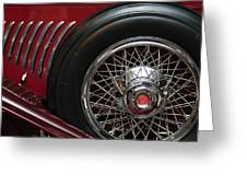 1931 Duesenberg Model J Spare Tire Greeting Card