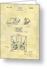 1931 Dump Truck Patent Greeting Card