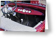 1931 Ford Dashboard Greeting Card