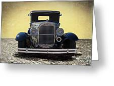 1931 Ford Model A Coupe Greeting Card