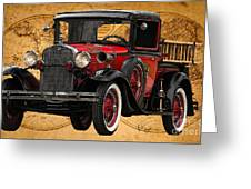 1931 Ford Model A Fire Truck Greeting Card