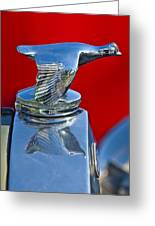 1931 Ford Model A Quail Hood Ornament Greeting Card