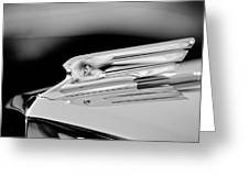 1931 Marmon Sixteen Coupe Hood Ornament 3 Greeting Card