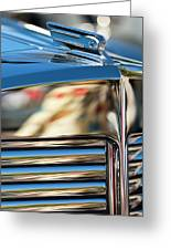 1931 Marmon Sixteen Coupe Hood Ornament Greeting Card