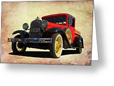 1931 Model A Greeting Card