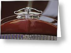 1931 Packard 840 Roadster Hood Ornament Greeting Card