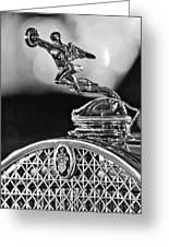 1931 Packard Convertible Victoria Hood Ornament 2 Greeting Card
