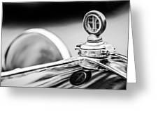 1932 Alfa Romeo Hood Ornament - Motometer -1364bw Greeting Card by Jill Reger