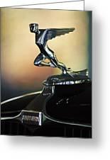 1932 Auburn 12-160 Speedster Hood Ornament Greeting Card