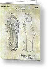 1932 Baseball Cleat Patent Greeting Card
