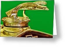 1932 Chevrolet Eagle Hood Ornament Greeting Card