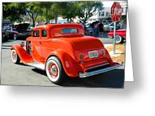 1932 Ford  5 Window Coupe Greeting Card