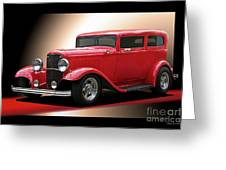 1932 Ford 'cherry Bomb' Sedan Greeting Card
