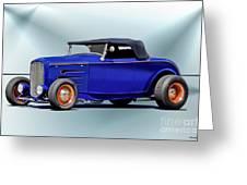 1932 Ford 'classic Hiboy' Roadster Xa Greeting Card