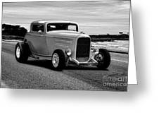 1932 Ford Coupe 'black And White' Greeting Card