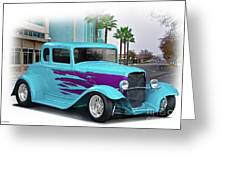 1932 Ford 'down Town' Coupe Greeting Card