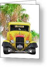 1932 Ford Five-window Coupe 'head On' I Greeting Card