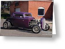 1932 Ford 'grape Soda' Coupe Greeting Card