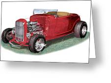 1932 Ford Hi-boy Hot Rod Greeting Card