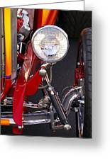 1932 Ford Hi-boy Roadster Headlight Greeting Card