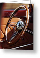 1932 Ford Hot Rod Steering Wheel 2 Greeting Card