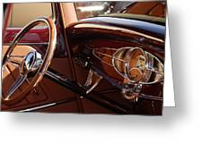 1932 Ford Hot Rod Steering Wheel 3 Greeting Card