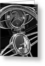 1932 Ford Hot Rod Steering Wheel 4 Greeting Card