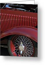 1932 Ford Hot Rod Wheel Greeting Card