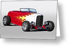 1932 Ford 'hot Stuff' Roadster Greeting Card