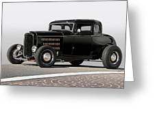 1932 Ford 'louvered' Coupe Greeting Card