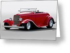 1932 Ford 'love Child' Roadster Greeting Card