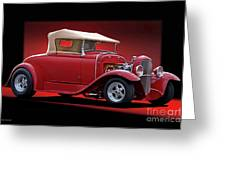 1932 Ford 'rag Top' Roadster Greeting Card