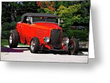 1932 Ford 'ragtop' Roadster Greeting Card