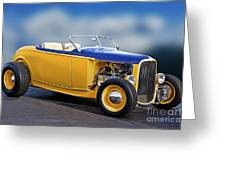 1932 Ford Roadster 'pass Side' L Greeting Card