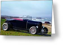1932 Ford Roadster 'shoreline' Greeting Card