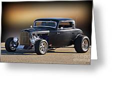 1932 Ford 'silky Satin' Coupe I Greeting Card